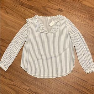 NWT stripped cotton blouse